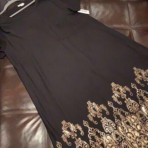 LuLaRoe Black Copper Dipped Elegant Carly